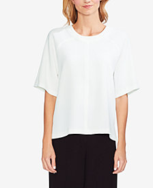 Vince Camuto Crepe Elbow-Sleeve Top