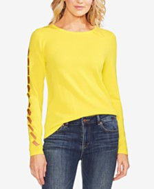 Vince Camuto Sleeve-Cutout Sweater