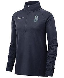 Nike Women's Seattle Mariners Half-Zip Element Pullover