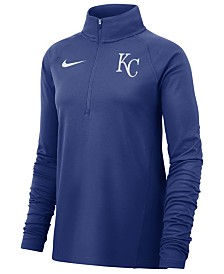 Nike Women's Kansas City Royals Half-Zip Element Pullover
