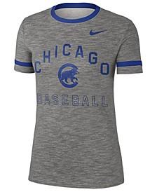 Women's Chicago Cubs Slub Crew Ringer T-Shirt