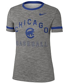 Nike Women's Chicago Cubs Slub Crew Ringer T-Shirt