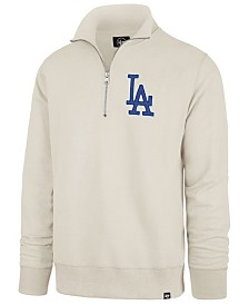 '47 Brand Men's Los Angeles Dodgers Stateside Striker Quarter-Zip Pullover