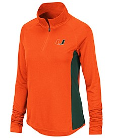 Women's Miami Hurricanes Albi Quarter-Zip Pullover