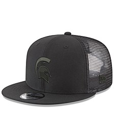 Michigan State Spartans Black on Black Meshback Snapback Cap
