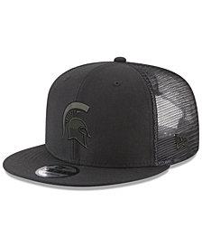 New Era Michigan State Spartans Black on Black Meshback Snapback Cap