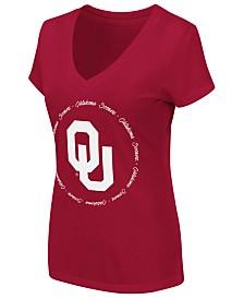 Colosseum Women's Oklahoma Sooners Dual Blend Script T-Shirt