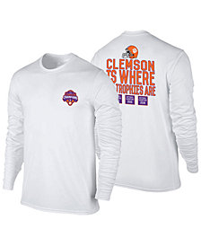 Retro Brand Men's Clemson Tigers 2019 Where the Trophies Are Long Sleeve T-Shirt