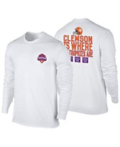 Retro Brand Men s Clemson Tigers 2019 Where the Trophies Are Long Sleeve T- Shirt f3ddf16d9