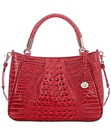Brahmin Melbourne Ruby Embossed Leather Satchel exclusive to Macy's