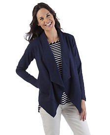 YALA Anari Organic Cotton and Viscose from Bamboo Casual Blazer Jacket