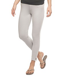 YALA Audrey Organic Cotton and Viscose from Bamboo Cropped Pull-on Ankle Pant