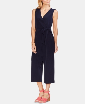 Vince Camuto Suits BELTED CROPPED JUMPSUIT