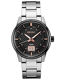 Seiko Men's Essential Stainless Steel Bracelet Watch 40.8mm