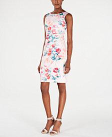 Calvin Klein Floral Starburst Sheath Dress