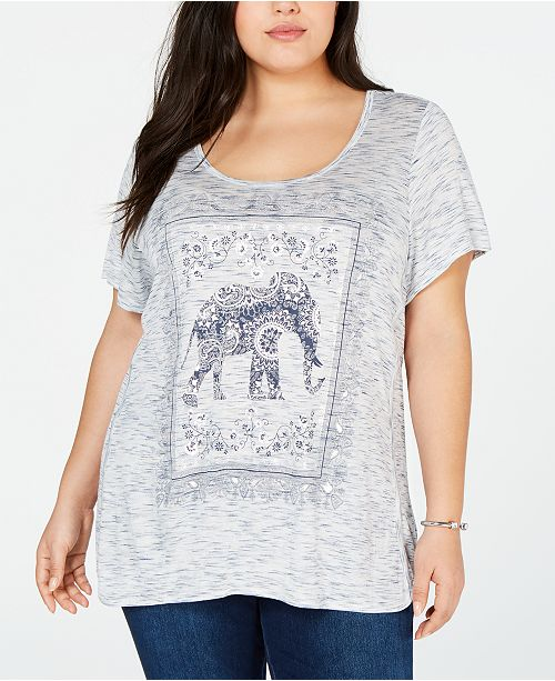 44885b37c2e59c ... Style & Co Plus Size Graphic-Print T-Shirt, Created for Macy's ...