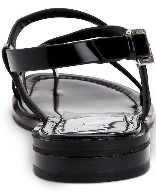 4518cc38540 Calvin Klein Women's Tica Flat Sandals & Reviews - Sandals & Flip ...