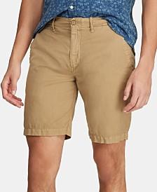 "Polo Ralph Lauren Men's 8.5"" Straight-Fit Linen Cotton Chino Shorts"