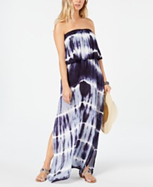 Raviya Tie-Dye Strapless Maxi Cover-Up Dress