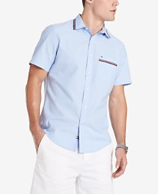 Tommy Hilfiger Men's Custom Fit Alcott Oxford Shirt, Created for Macy's
