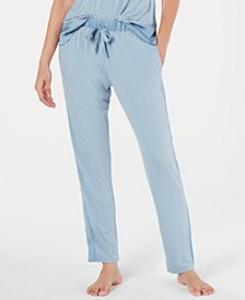 By Natori Sweet Treat Satin-Detail Tapered Pajama Pants