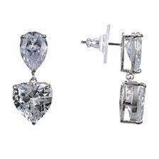 Nina Heart Crystal Earrings