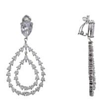 Nina Dangling Teardrop Clip-on Earringss