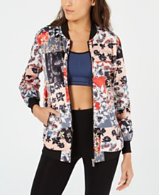 Calvin Klein Performance Printed Bomber Jacket