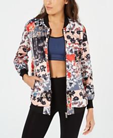 Calvin Klein Performance Printed Bomber Jacket