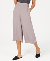 8b201087b7b5 Eileen Fisher Cropped Silk Wide-Leg Pants
