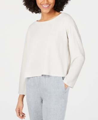 Silk Long-Sleeve Top