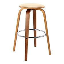 "Harbor 30"" Swivel Backless Barstool, Quick Ship"