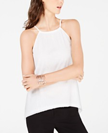 I.N.C. Petite Sequin Halter Top, Created for Macy's