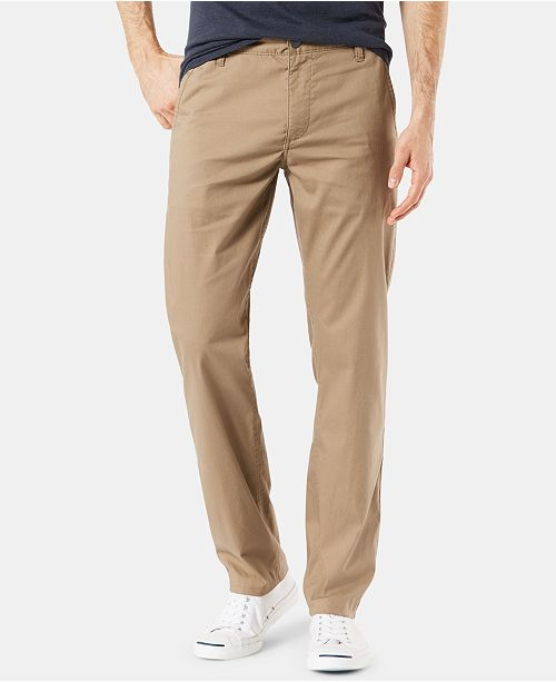 Dockers Men's Slim Fit Alpha Khaki Duraflex Lite Pants
