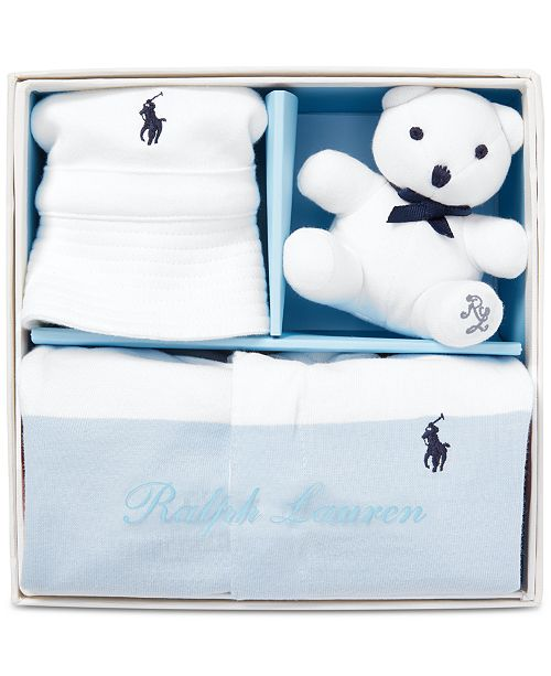 88b012bae8e93 Polo Ralph Lauren Baby Boys Striped 3-Pc. Gift Set   Reviews - All ...