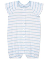 6559eb7c1b9 Polo Ralph Lauren Baby Girls Striped Smocked Cotton Shortall