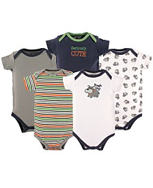 Luvable Friends Unisex Baby Bodysuits, 5-Pack, 0-24 Months