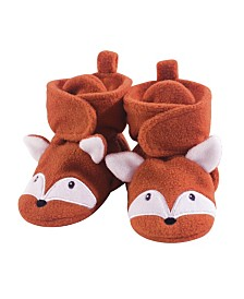 Baby Vision Baby Unisex Hudson Baby Baby Cozy Fleece Booties with Non Skid Bottom, 1-Pack