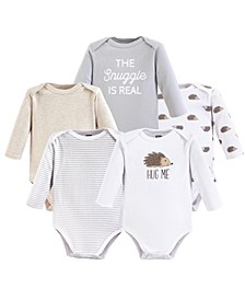 Baby Vision 0-24 Months Unisex Baby Long Sleeve Bodysuits, 5-Pack