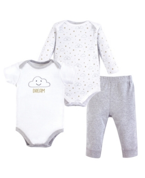 Baby Vision 0-24 Months Unisex Hudson Baby Bodysuit and Pant, 3-Piece Set