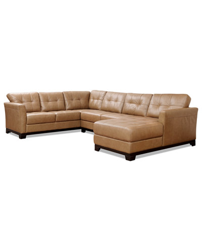 Martino leather 3 piece chaise sectional sofa furniture for 3 piece sectional with chaise