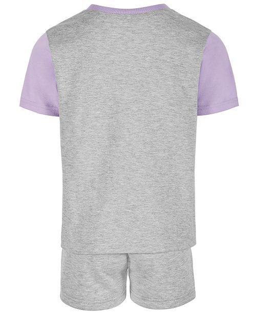 60589d8e Champion Toddler Girls 2-Pc. Colorblocked T-Shirt & Shorts Set ...