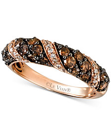 Le Vian Chocolatier® Diamond Band (1-1/8 ct. t.w.) in 14k Rose Gold