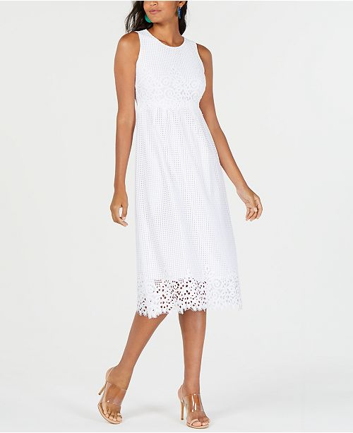 Petite Lace Midi Dress