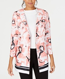 Alfani Printed One-Button Jacket, Created for Macy's