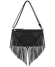 Filmore Leather Macrame Crossbody
