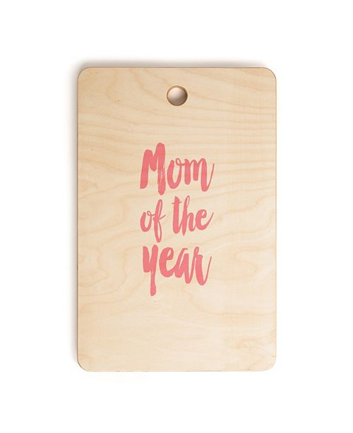 Deny Designs Mom of the Year Rectangle Cutting Board
