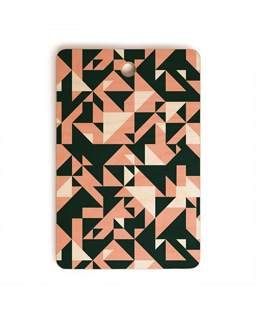 Deny Designs Geometric Forms 08 Rectangle Cutting Board