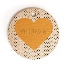 Hello Sunshine Heart Round Cutting Board