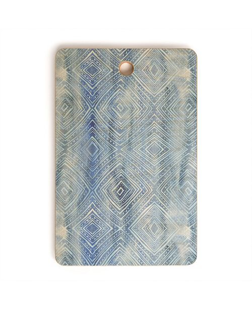 Deny Designs Drawn Diamond Chambray Rectangle Cutting Board